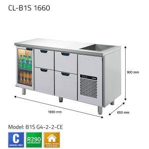 KYLBÄNK: CL-B1S 1660 - PORKKA