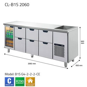 KYLBÄNK: CL-B1S 2060 - PORKKA