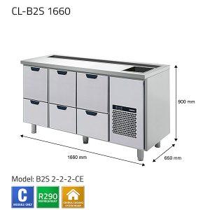 KYLBÄNK: CL-B2S 1660 - PORKKA