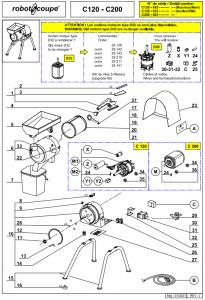 Reservdelar till C120 - C200 - Robot Coupé