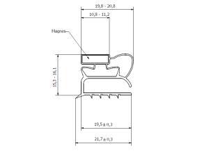 MAGNETLIST POPNIT/SKRUVAD PROFIL 0001 510X610